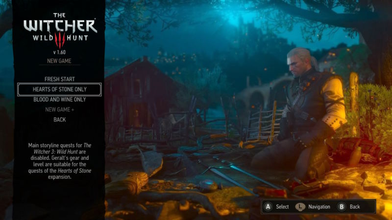 In good news, you can boot straight into expansion content when loading this version of <em>The Witcher 3</em>. I imagine more than a few fans of the game will use this Switch version to dive deeply into either or both of the expansions.