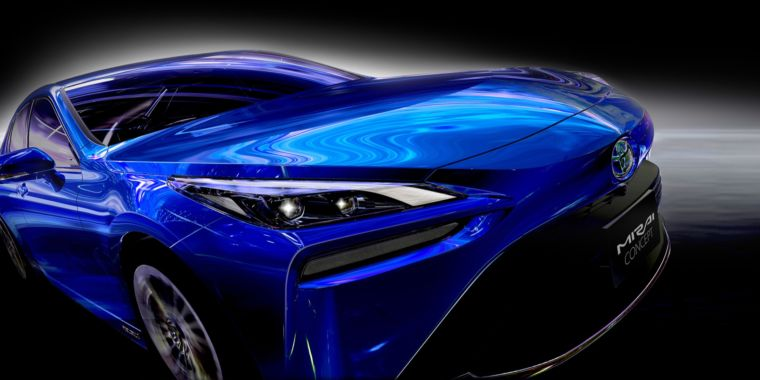 The 2021 Toyota Mirai hydrogen fuel cell car has more luxury, less ugly