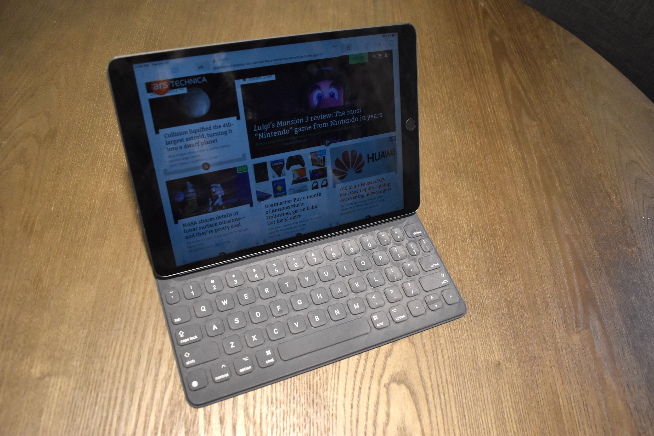 Apple's Smart Keyboard with a 10.5-inch iPad Air.