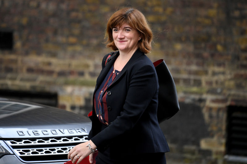 Nicky Morgan, UK Secretary of State for Digital, Culture, Media, and Sport.