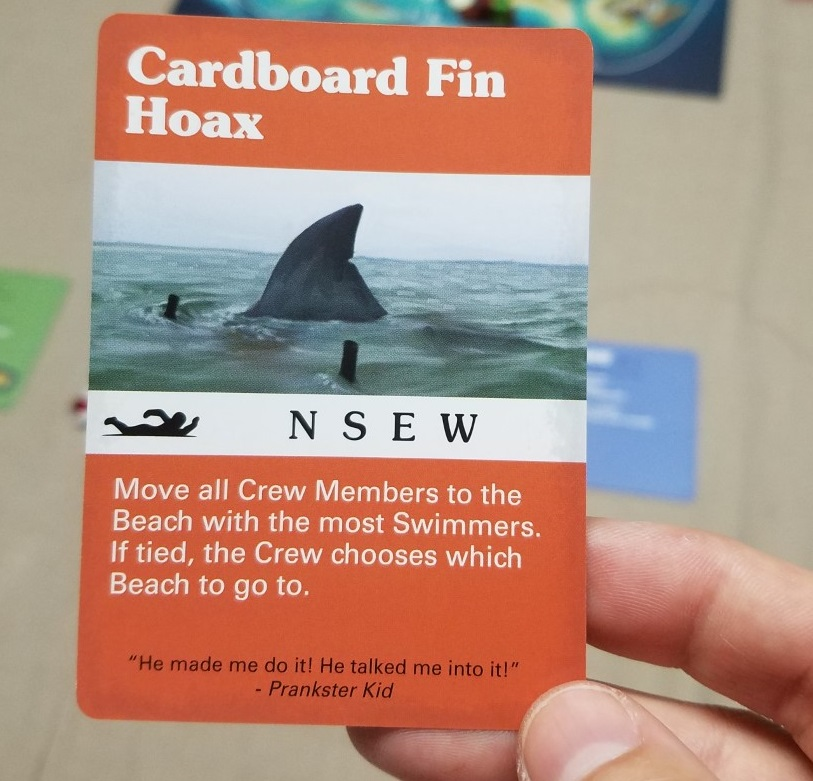 "Ah, the old ""cardboard fin hoax"" card..."