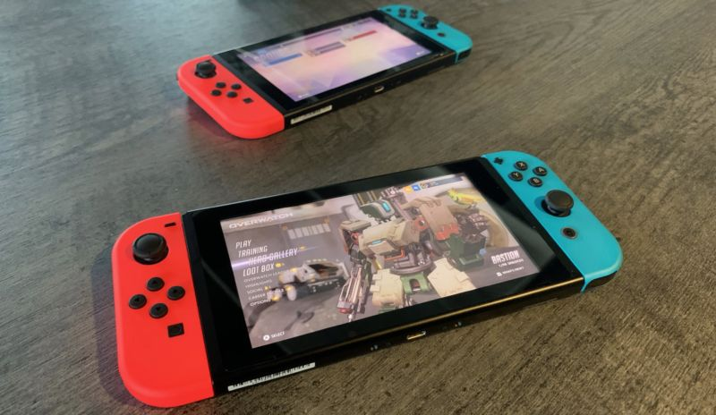 Overwatch running on the Nintendo Switch.