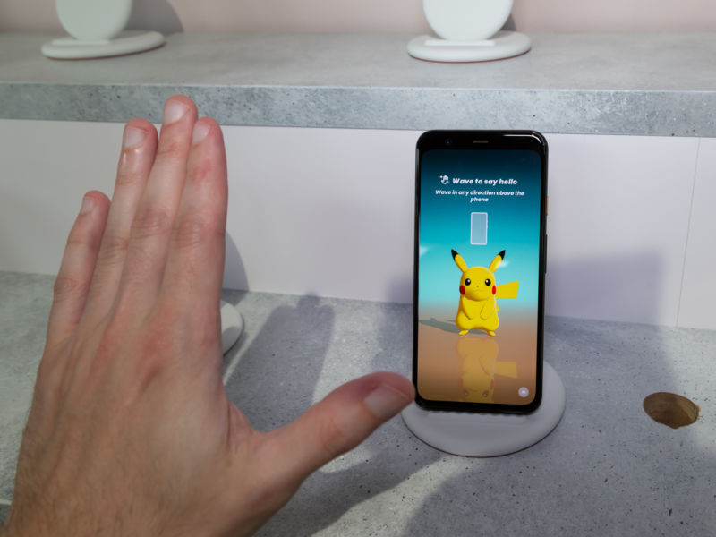 Pictures of the Pixel 4.
