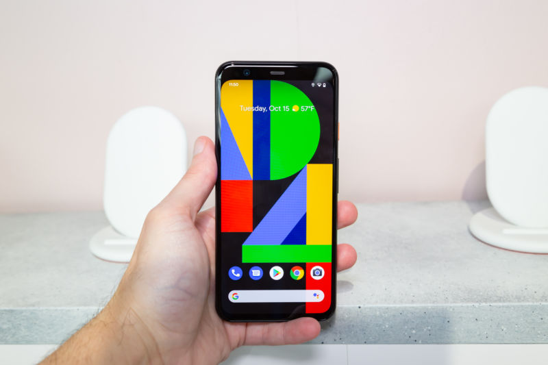 The Pixel 4.