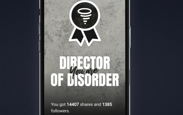 You, too, can become a Director of Disorder.
