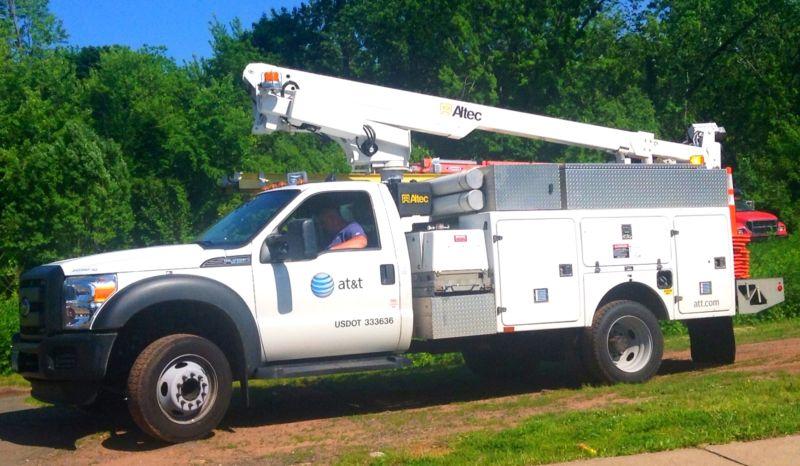An AT&T repair truck.