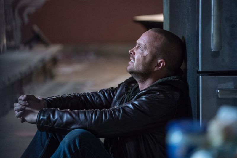 "Jesse Pinkman (Aaron Paul) must elude capture and get out of town in <em>El Camino</em>.""><br /> < img src ="