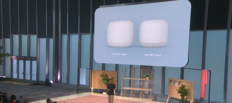 Google Nest Wifi debuts at Made by Google 2019 event.
