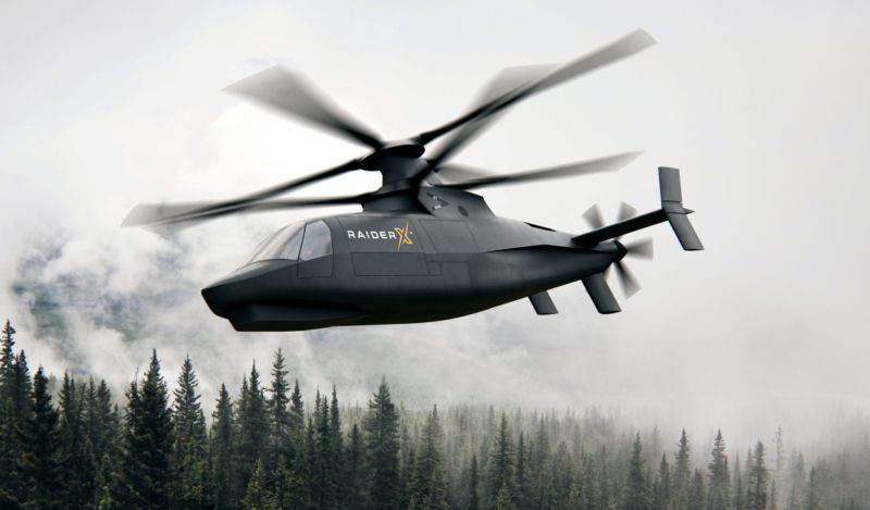 An artist's rendering of Sikorsky's proposed Raider X attack-scout helicopter.