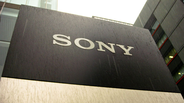 A Sony sign at a company HQ