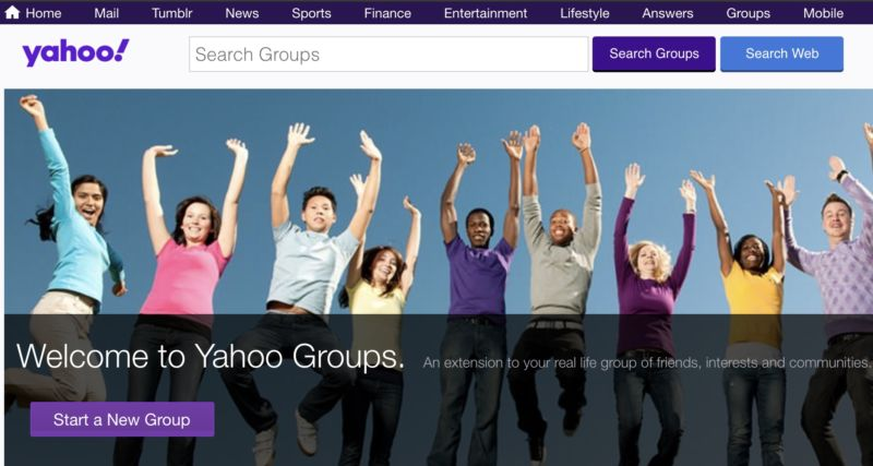 Yahoo Groups to be shut down from 21st October
