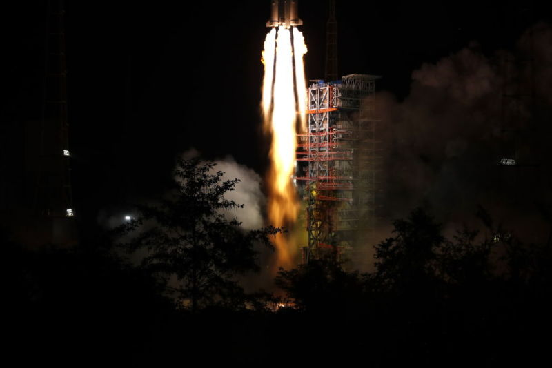 A Long March 3B rocket launches from the Xichang Satellite Launch Center earlier this month.