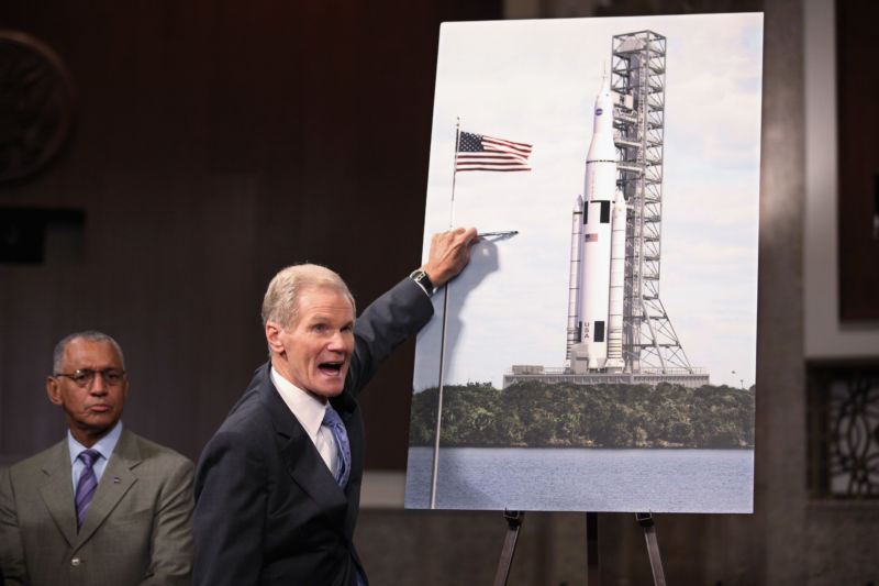 The Space Launch System was created as part of a political compromise between U.S. Sen. Bill Nelson (D-Fla.) And Alabama and Texas senators.