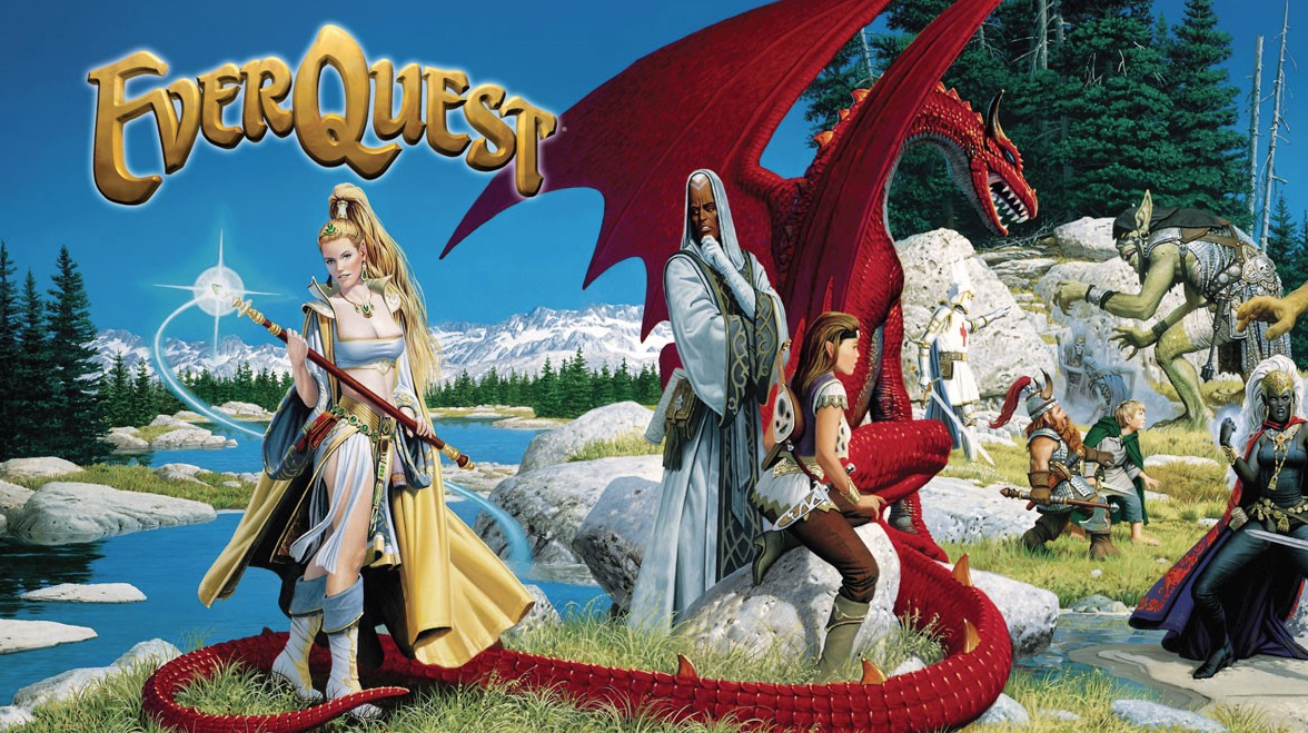 EverQuest promotional art this week in gaming history.
