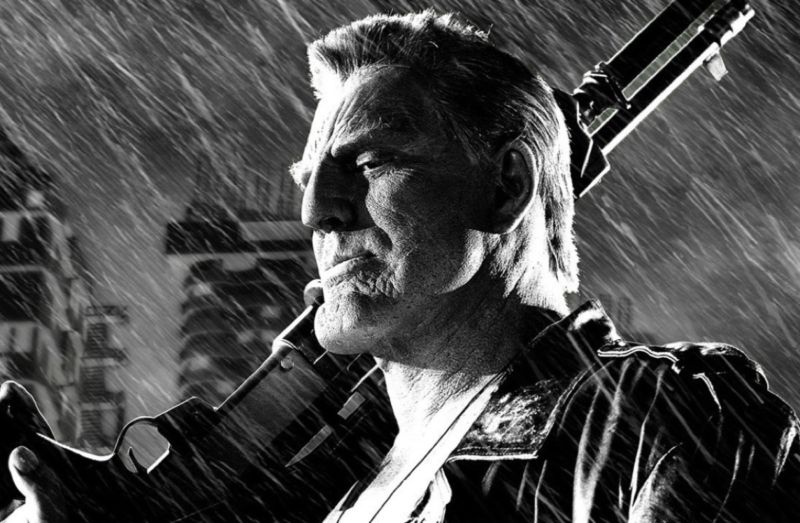Mickey Rourke played tough guy Marv in the 2005 film, <em>Sin City</em>, and its 2014 sequel, <em>Sin City: A Dame to Kill For.</em>