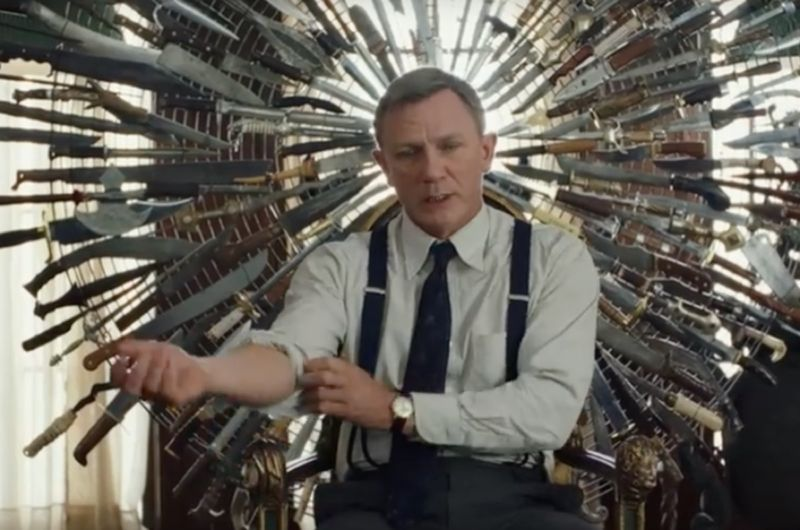 "Daniel Craig sports a Southern accent and plenty of panache as Det. Benoit Blanc in <em>Knives Out</em>.""><br /> < img src ="