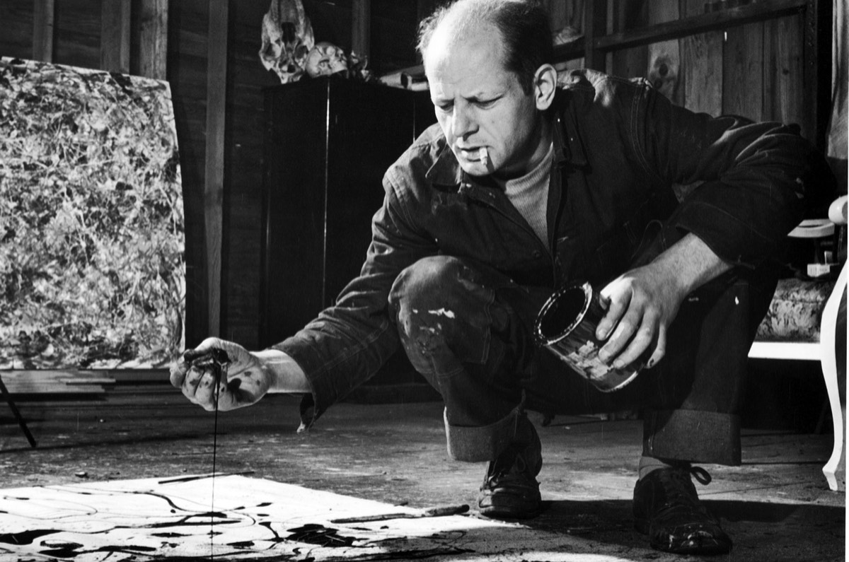 "Splatter master Jackson Pollock avoided ""coiling"" when creating his paintings 