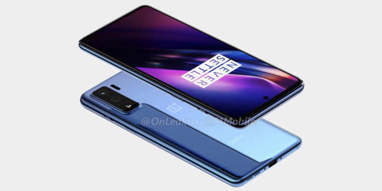 Render shows OnePlus tackling the midrange market with OnePlus 8 Lite