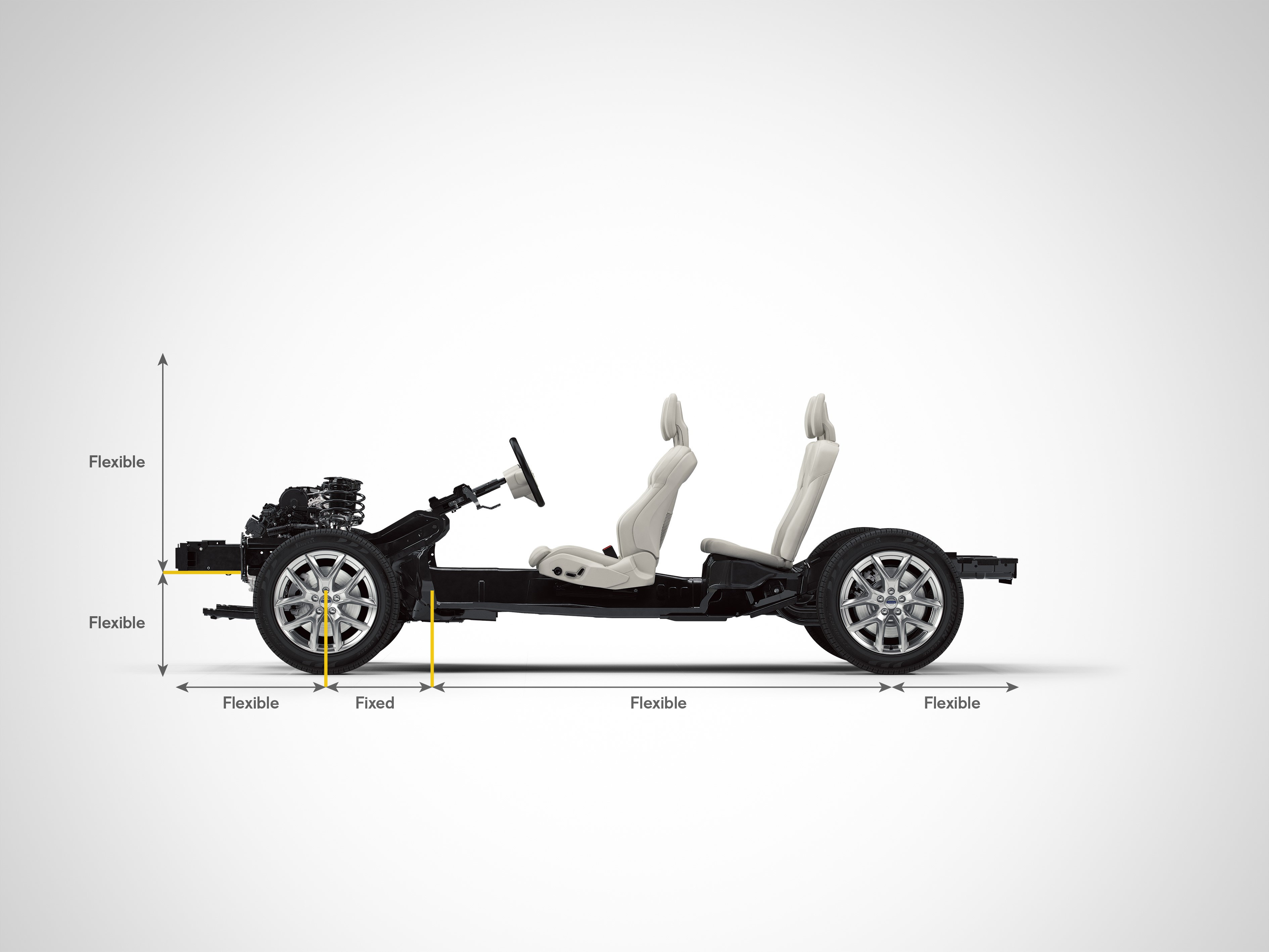 The XC40 uses Volvo's new Compact Modular Architecture.