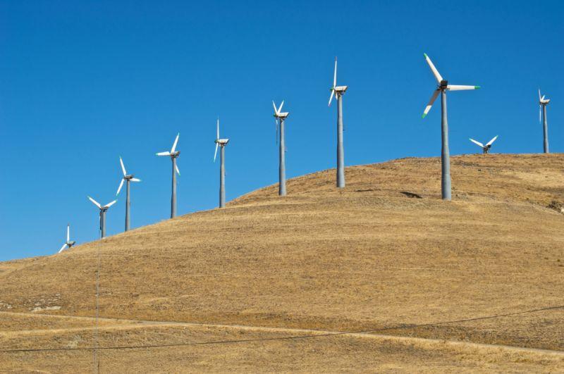 Image of wind turbines.