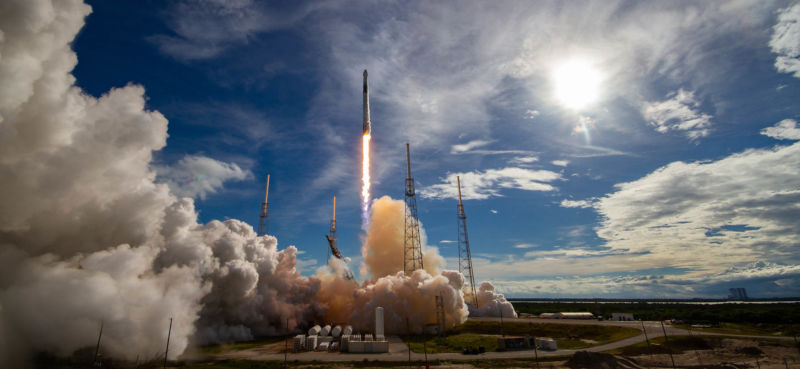 The Falcon 9 rocket launching Monday has flown twice previously, including this July launch to the International Space Station.