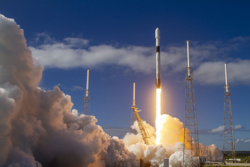 SpaceX Rocket Launch From Cape Canaveral, Florida On December 4, 2019
