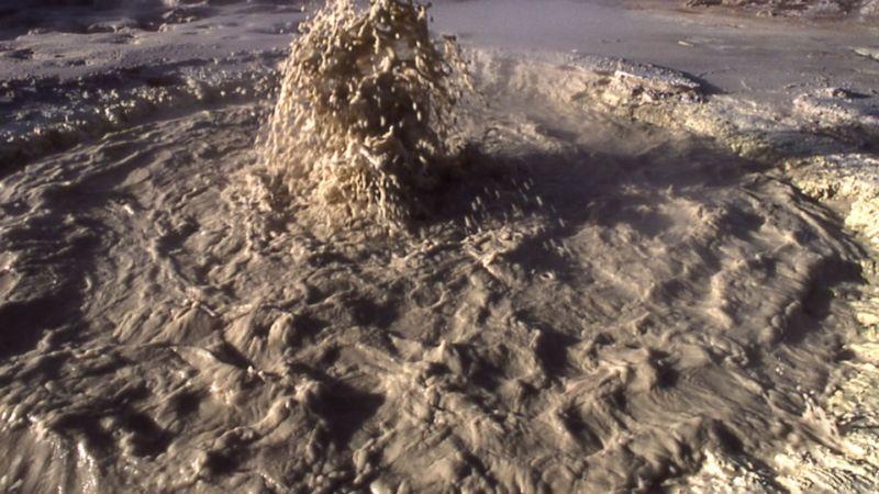 Image of a muddy geyser.