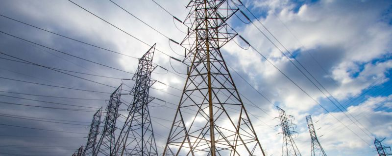 Image of electrical transmission lines.