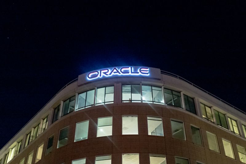 An Oracle building in the San Francisco Bay Area.