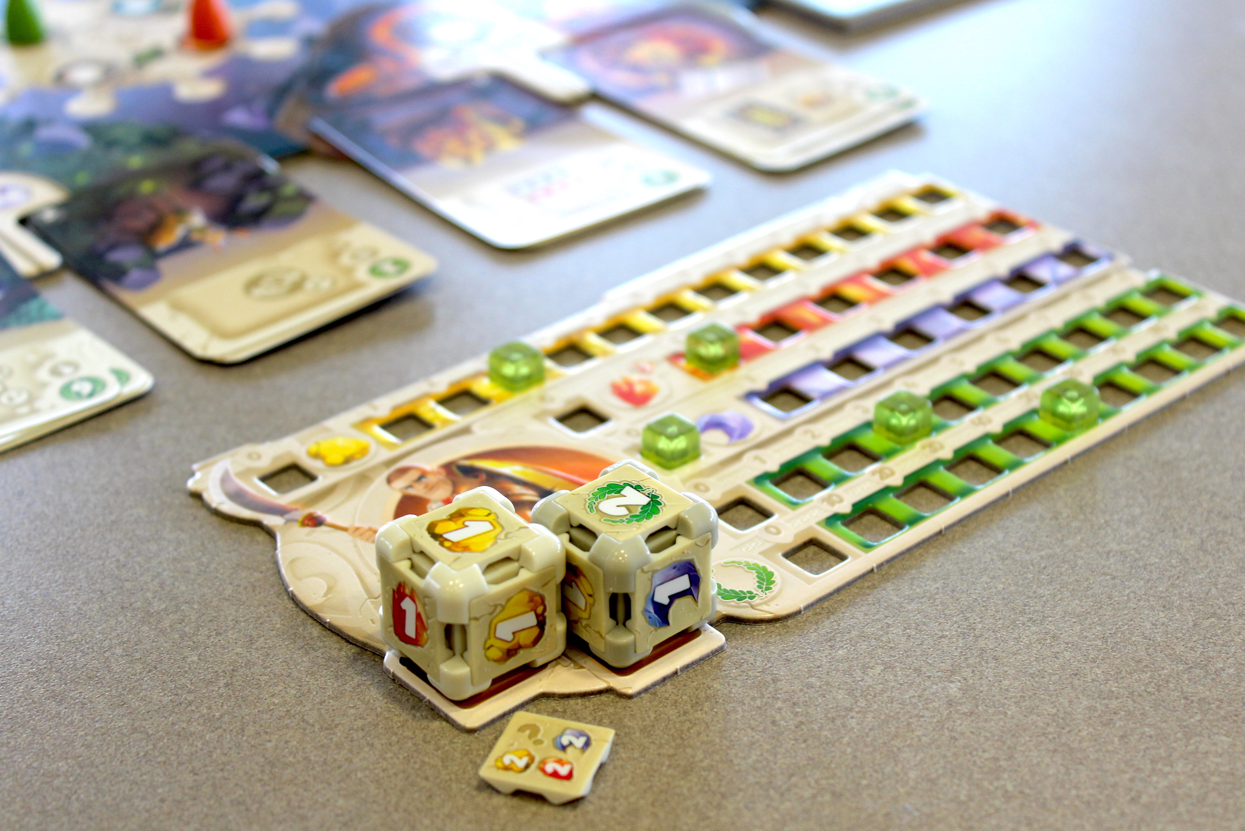 """<em>Dice</em> <em>Forge</em> is a fun """"engine-building"""" game with rounds that last about 45 minutes."""