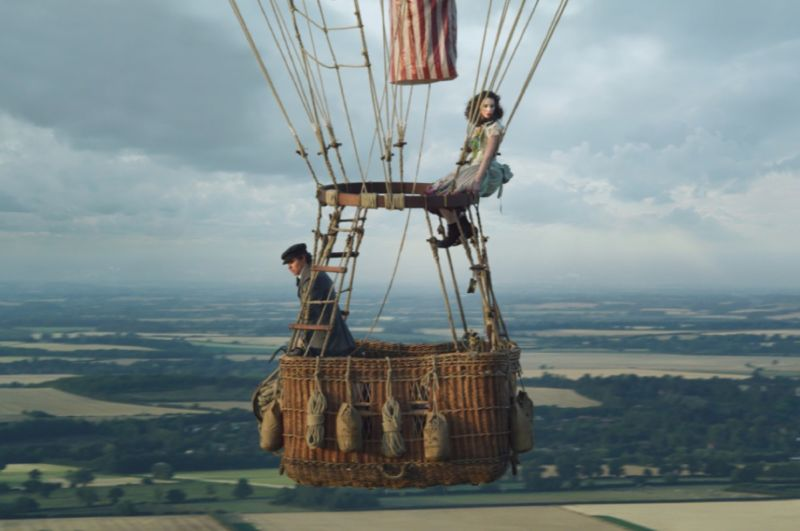 Eddie Redmayne and Felicity Jones star in <em>The Aeronauts</em>.