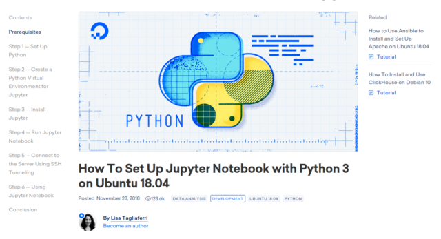 If you want to set up Jupyter on your own Digital Ocean droplet—or your own Linux computer!—Digital Ocean's tutorial makes it easy.