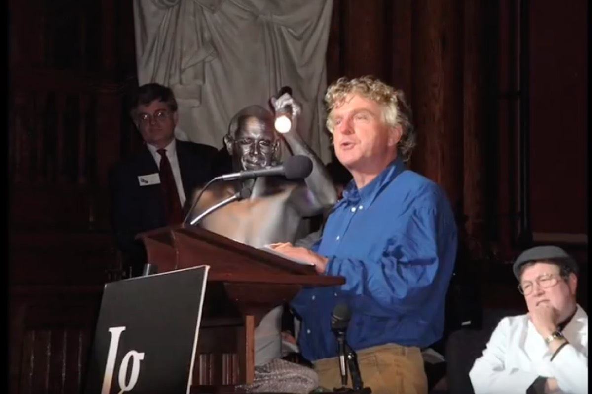 Co-author Pek van Andel accepting an Ig Nobel prize for his 1999 MRI study