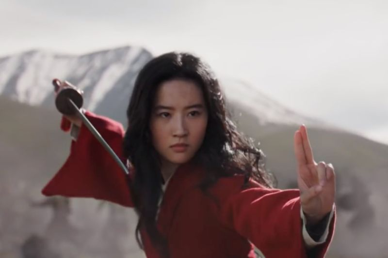 Screenshot from Mulan trailer
