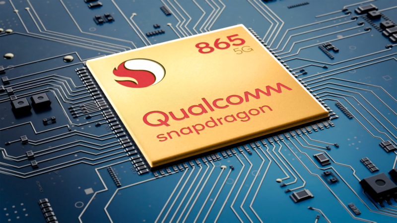A picture of the Snapdragon 865.