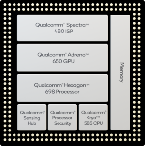 The Snapdragon 865 block diagram.