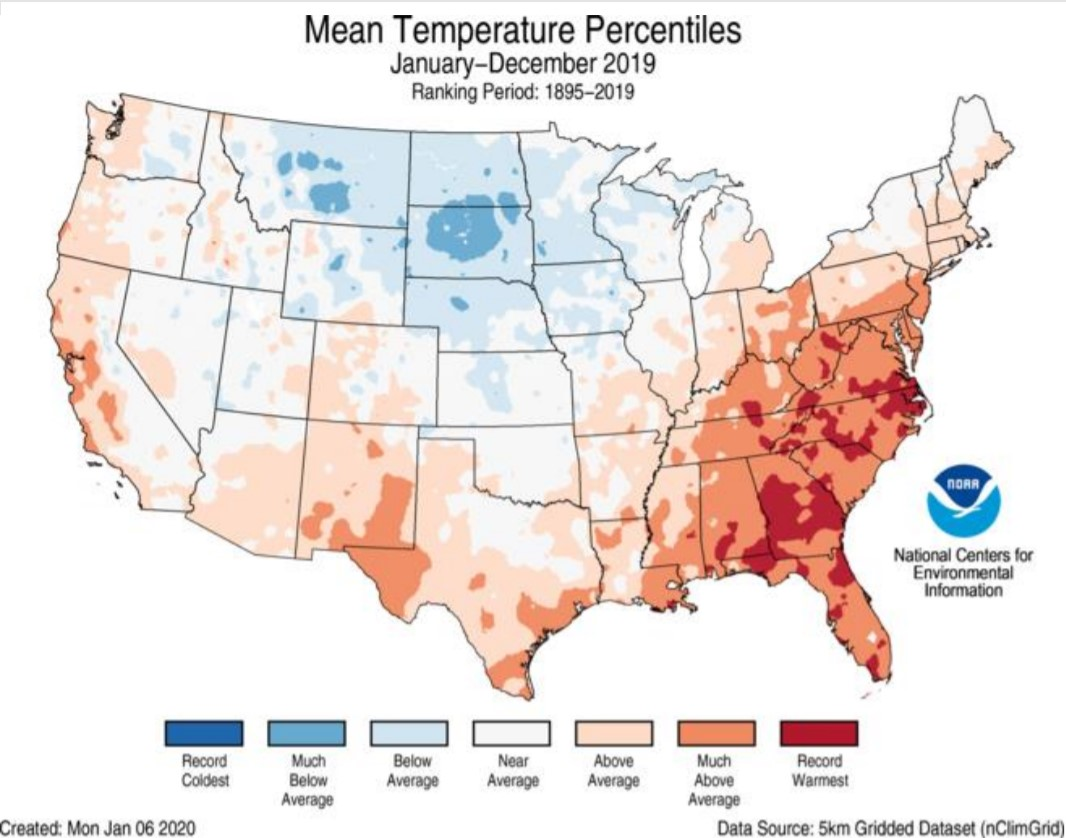 NASA says 2019 was the second warmest year ever recorded