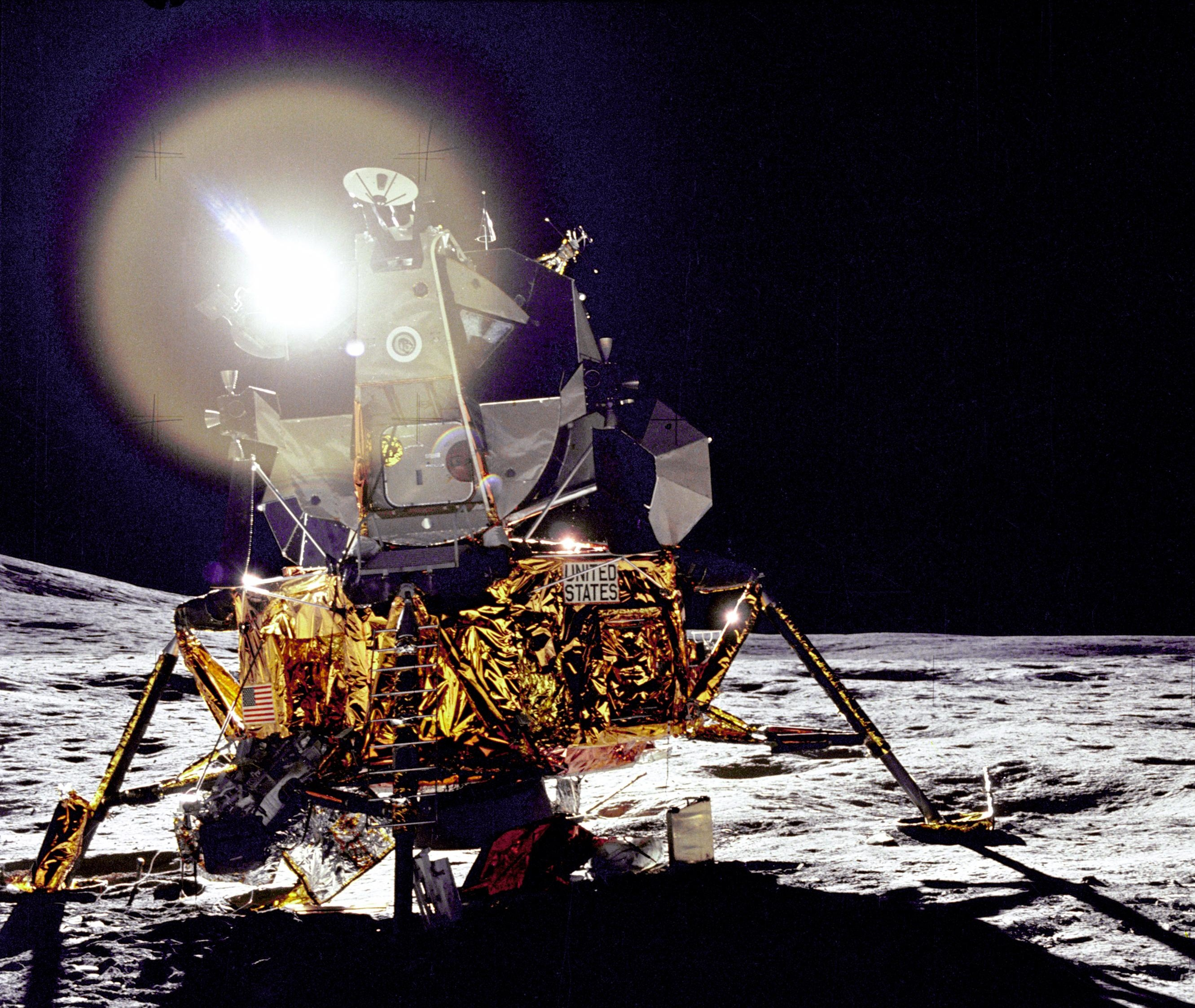<em>Antares</em>, safely on the lunar surface.