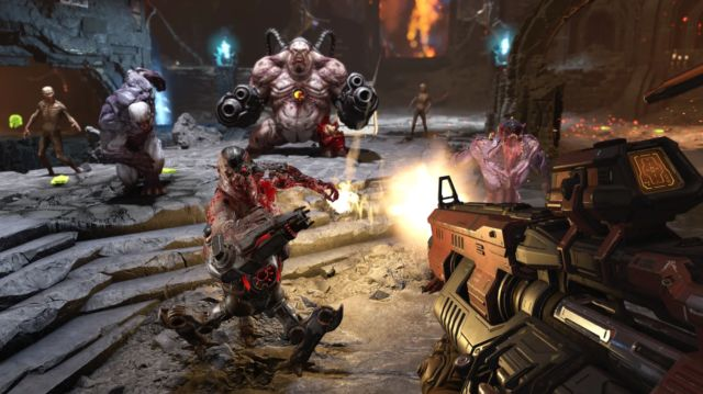In <em>Doom Eternal</em>, there are a bunch more enemy types, and they will overwhelm you.