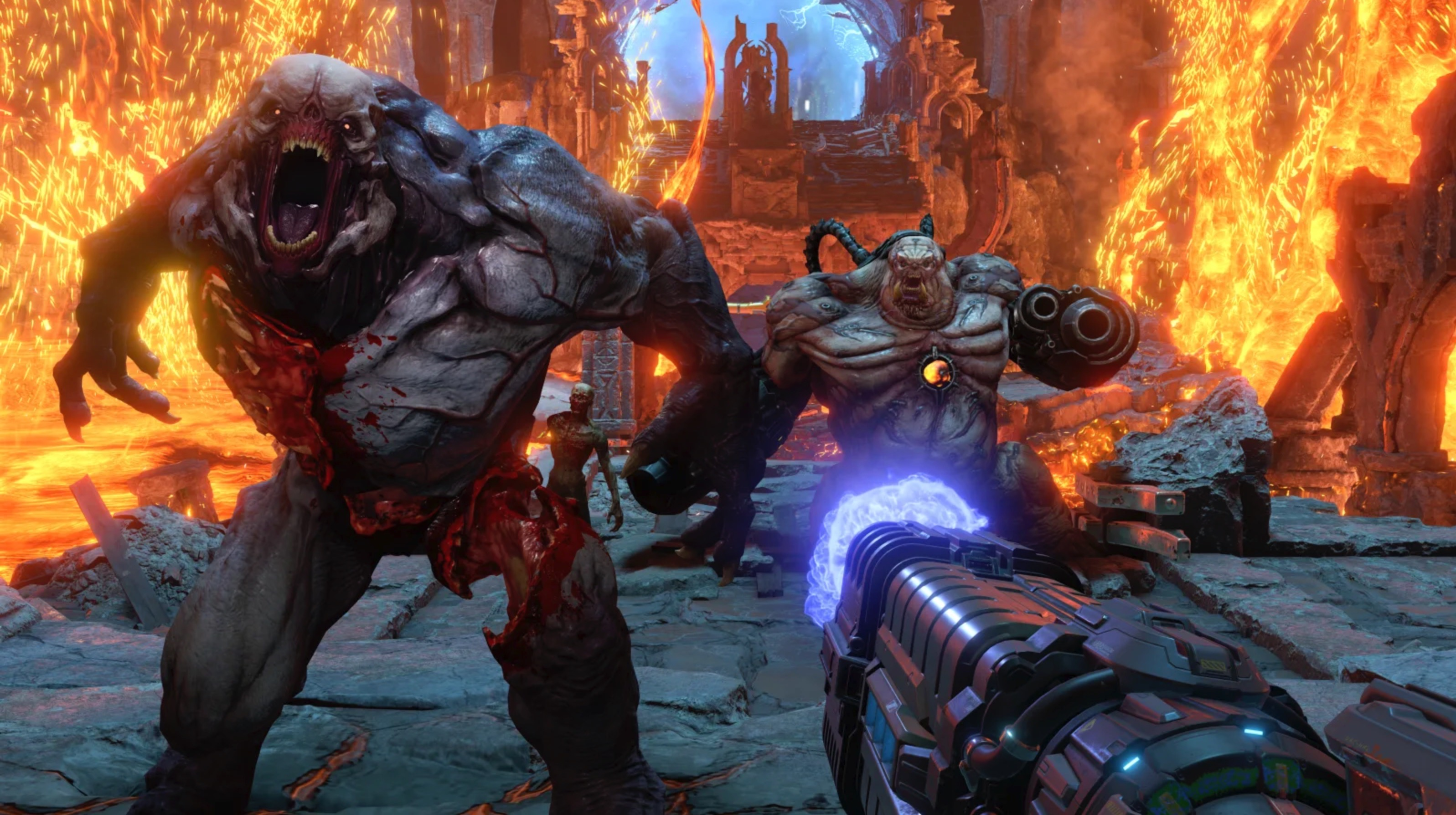 <em>Doom Eternal</em> is a fun and frenetic first-person shooter.