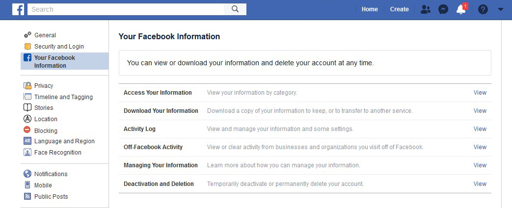 """You can click """"access your information"""" for a whole plethora of info or go straight to """"Off-Facebook Activity."""""""