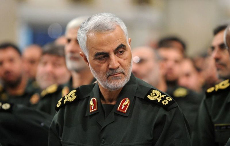 TEHRAN, IRAN - (ARCHIVE): A file photo dated September 18, 2016 shows Iranian Revolutionary Guards' Quds Force commander Qasem Soleimani during Iranian Supreme Leader Ayatollah Ali Khamenei's meeting with Revolutionary Guards, in Tehran, Iran.