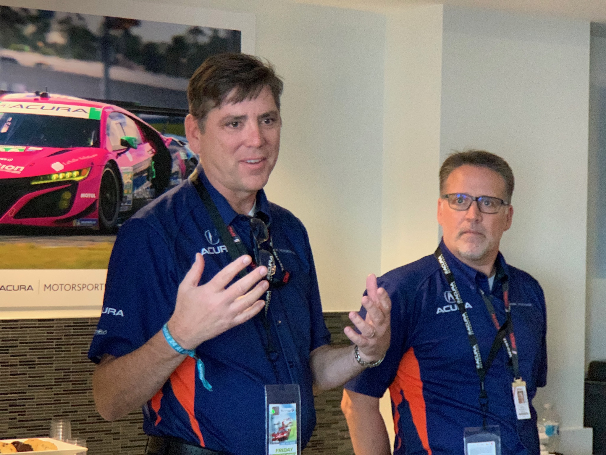 """We won the Michelin Green-X challenge more than any other manufacturer when it was running,"" said Steve Erikson, vice president and COO of Honda Performance Development (left). To his right is Ted Klaus, president of HPD."