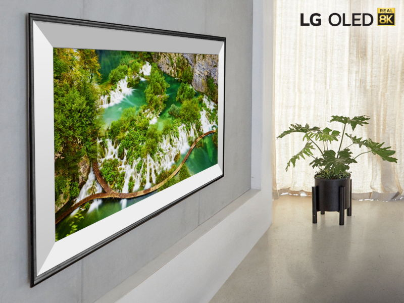 Here's a 77-inch 8K TV in a heavily photoshopped image from LG.