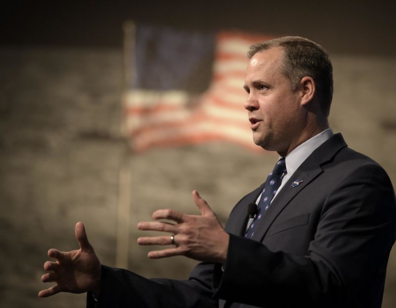NASA chief Jim Bridenstine says lunar lander partners may need to step up financial contributions to their designs.