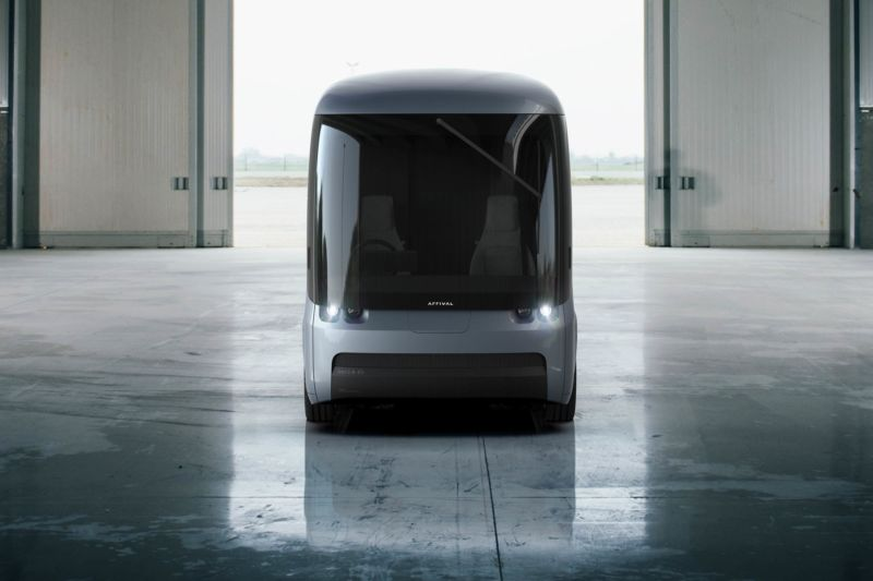 Arrival's first model, due out later this year, can carry 500 cubic feet of stuff and cover 200 miles between charging stops.