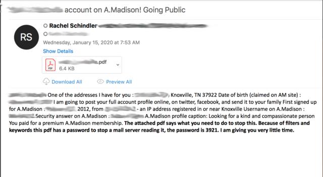 ashley madison scam