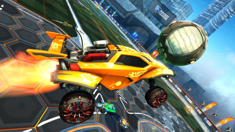 Screenshot of video game Rocket League.