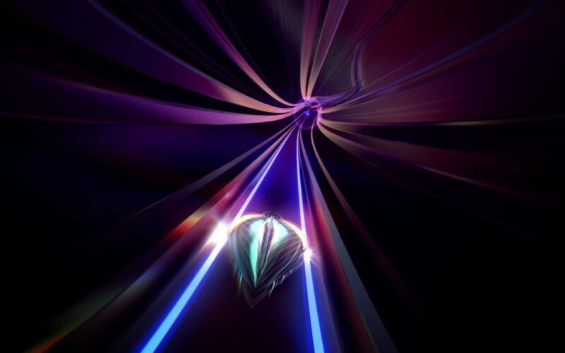 Screenshot from video game Thumper.