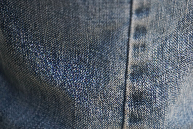 Extreme closeup photograph of a pair of jeans.